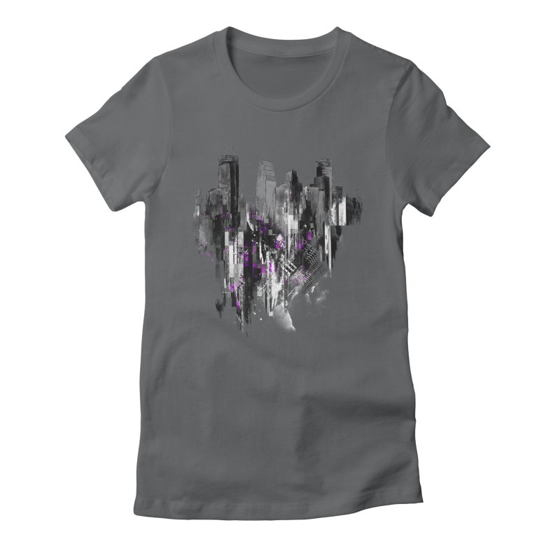 Living City Women's Fitted T-Shirt by 7sixes's Artist Shop