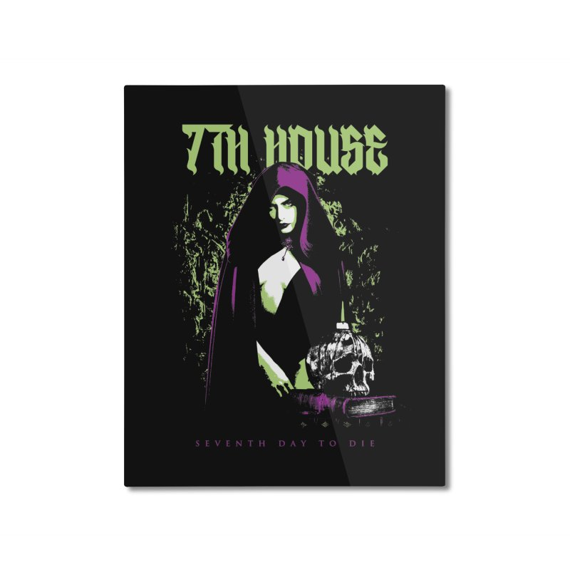 Design by Mister Black Home Mounted Aluminum Print by 7thHouse Official Shop