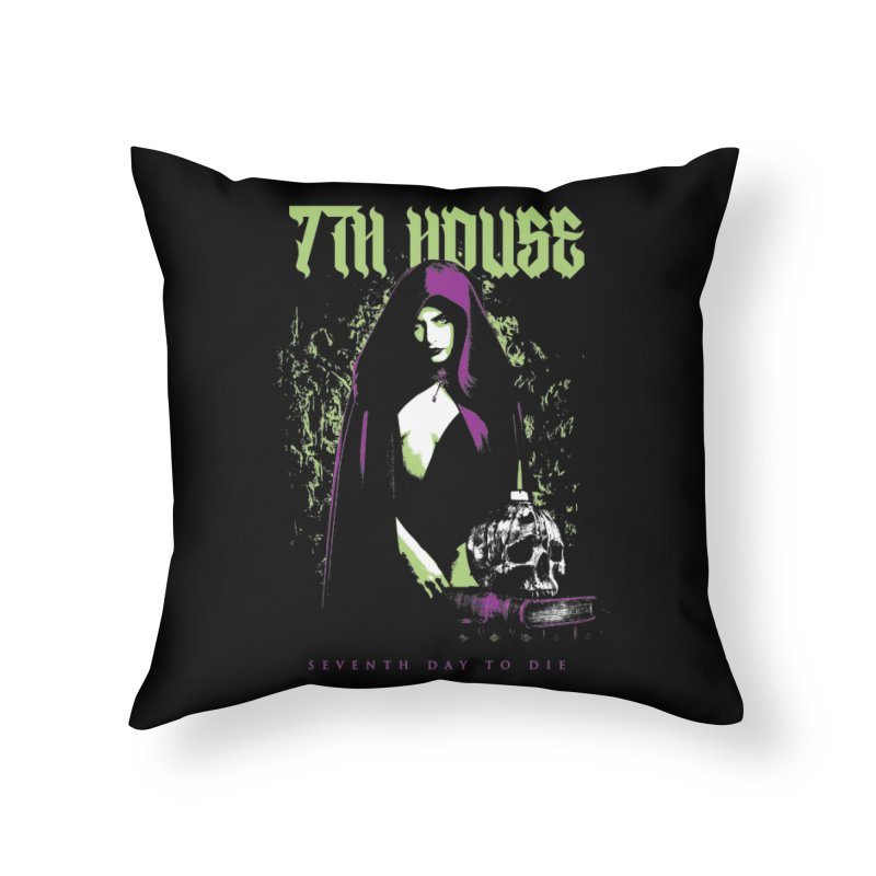 Design by Mister Black Home Throw Pillow by 7thHouse Official Shop