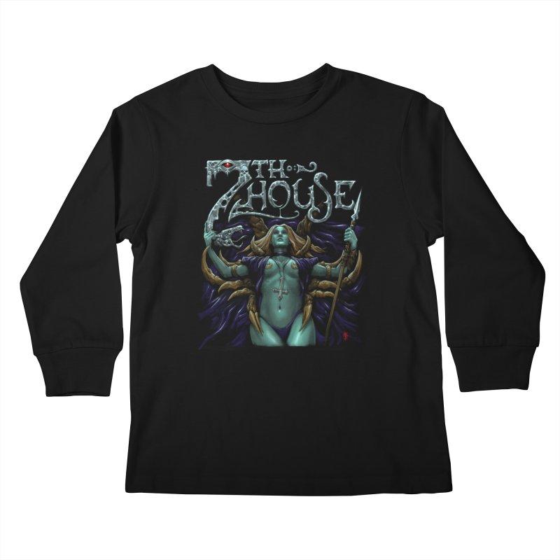 Design by Luke Schroder Kids Longsleeve T-Shirt by 7thHouse Official Shop