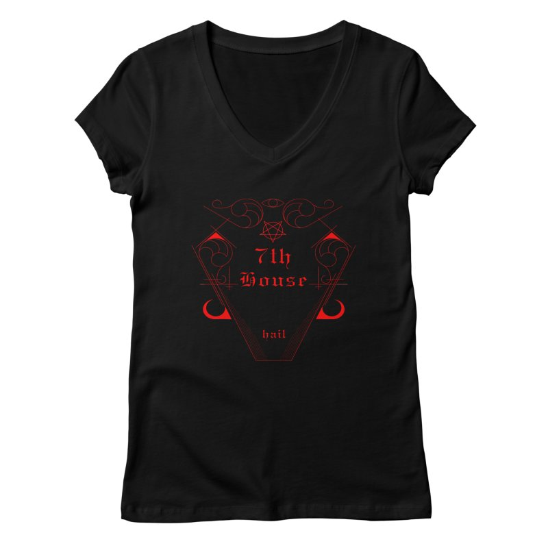 Design by William Gustus Women's V-Neck by 7thHouse Official Shop