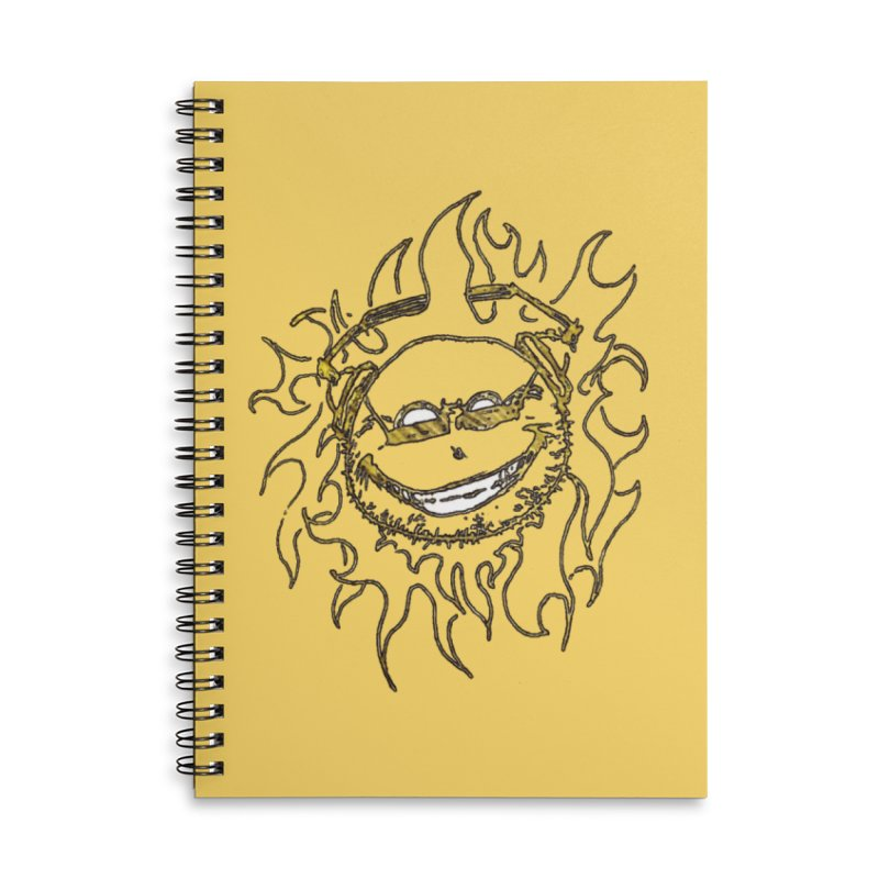 Sun Beats Accessories Lined Spiral Notebook by 7thSin Apparel