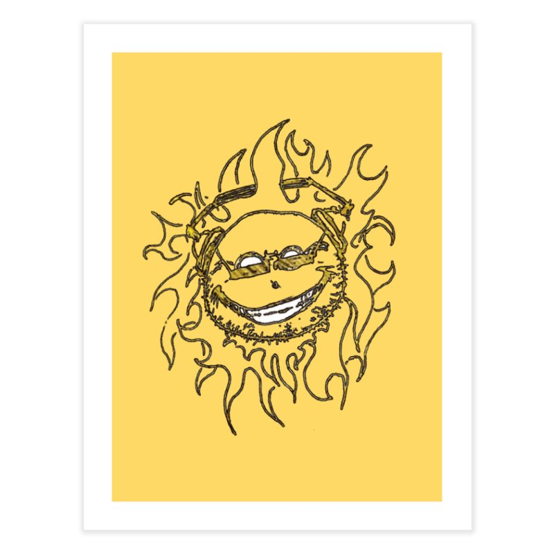 Sun Beats Home Fine Art Print by 7thSin Apparel