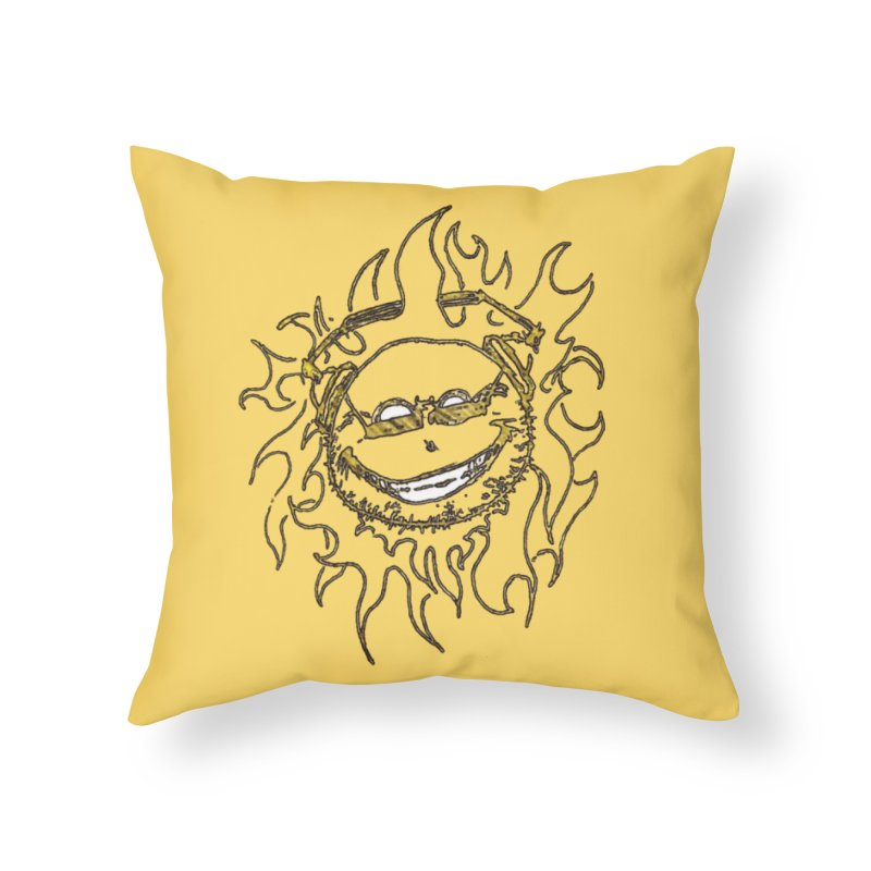 Sun Beats Home Throw Pillow by 7thSin Apparel