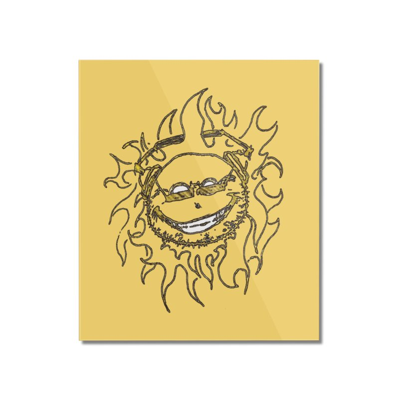Sun Beats Home Mounted Acrylic Print by 7thSin Apparel
