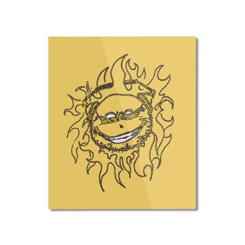 Sun Beats Home Mounted Aluminum Print by 7thSin Apparel