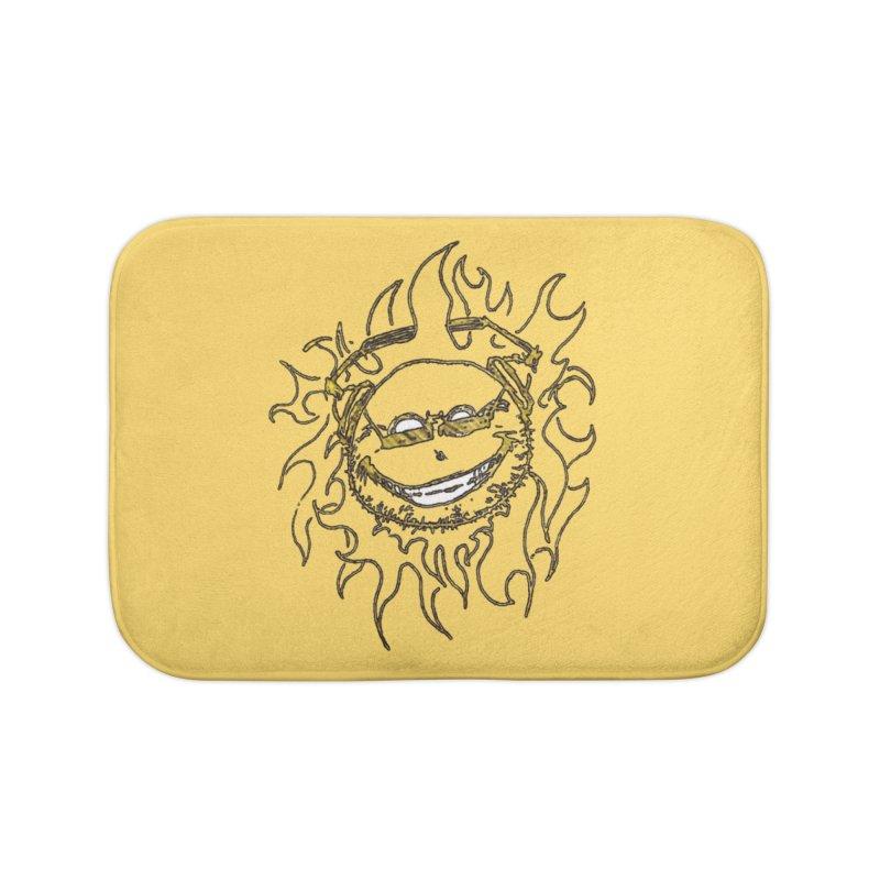 Sun Beats Home Bath Mat by 7thSin Apparel