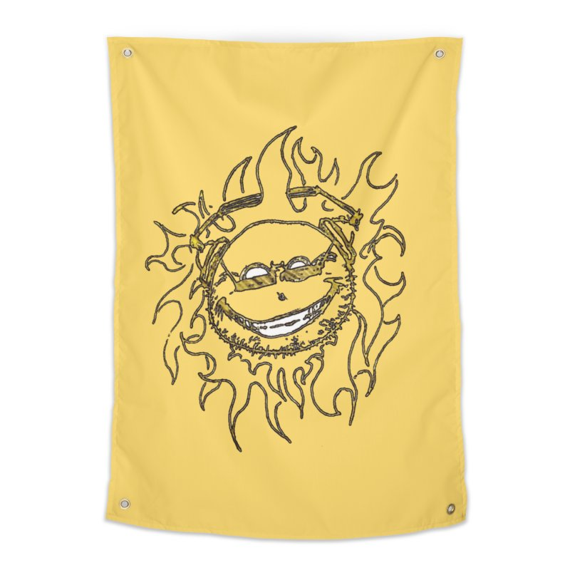 Sun Beats Home Tapestry by 7thSin Apparel