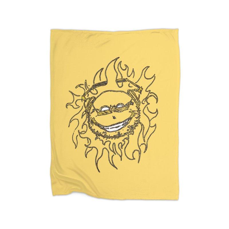 Sun Beats Home Fleece Blanket Blanket by 7thSin Apparel