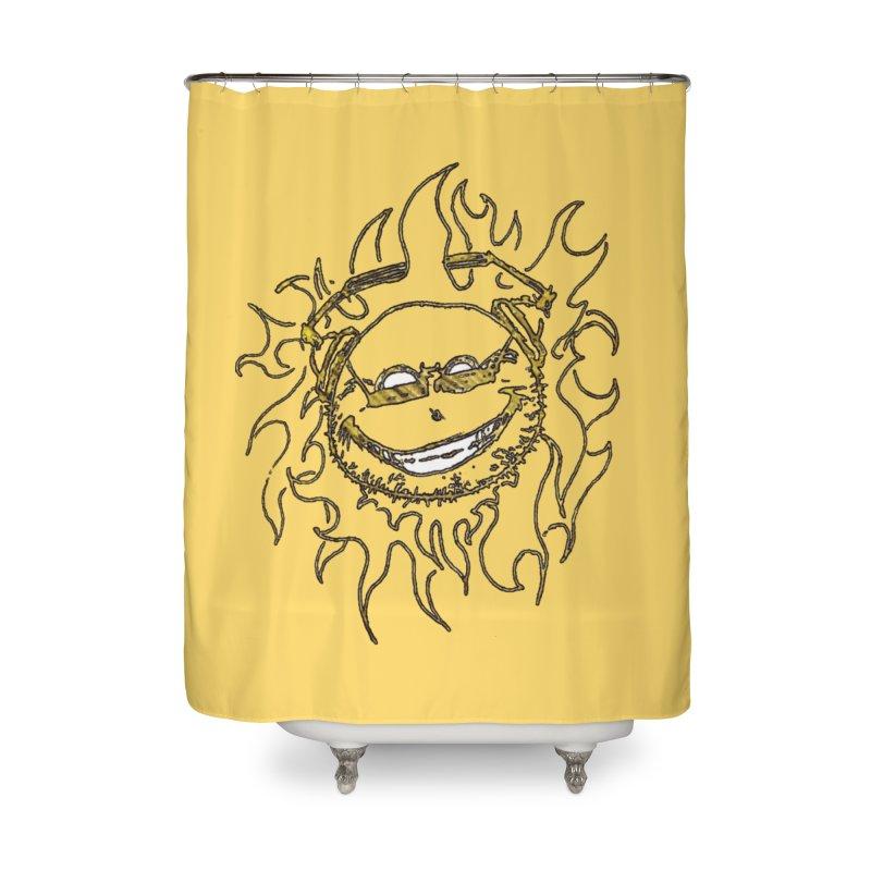 Sun Beats Home Shower Curtain by 7thSin Apparel