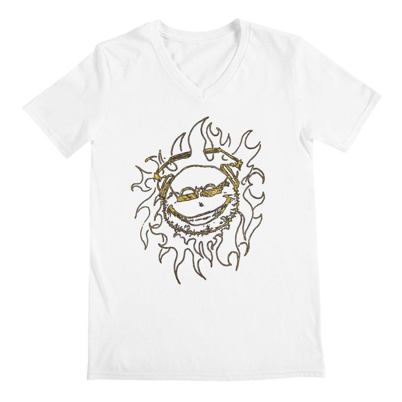 Sun Beats Men's Regular V-Neck by 7thSin Apparel