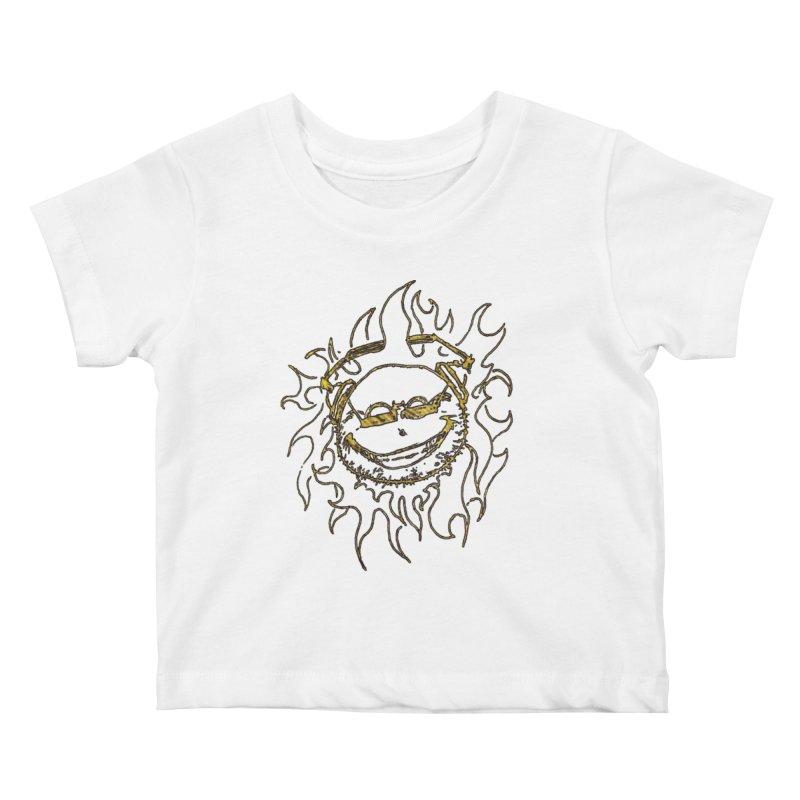 Sun Beats Kids Baby T-Shirt by 7thSin Apparel