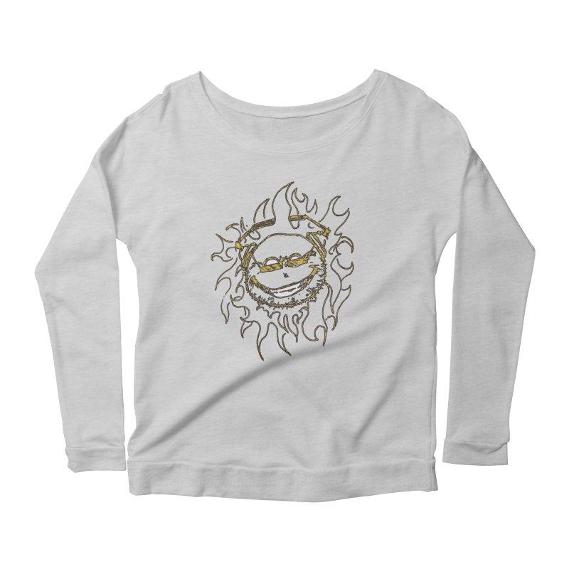 Sun Beats Women's Scoop Neck Longsleeve T-Shirt by 7thSin Apparel