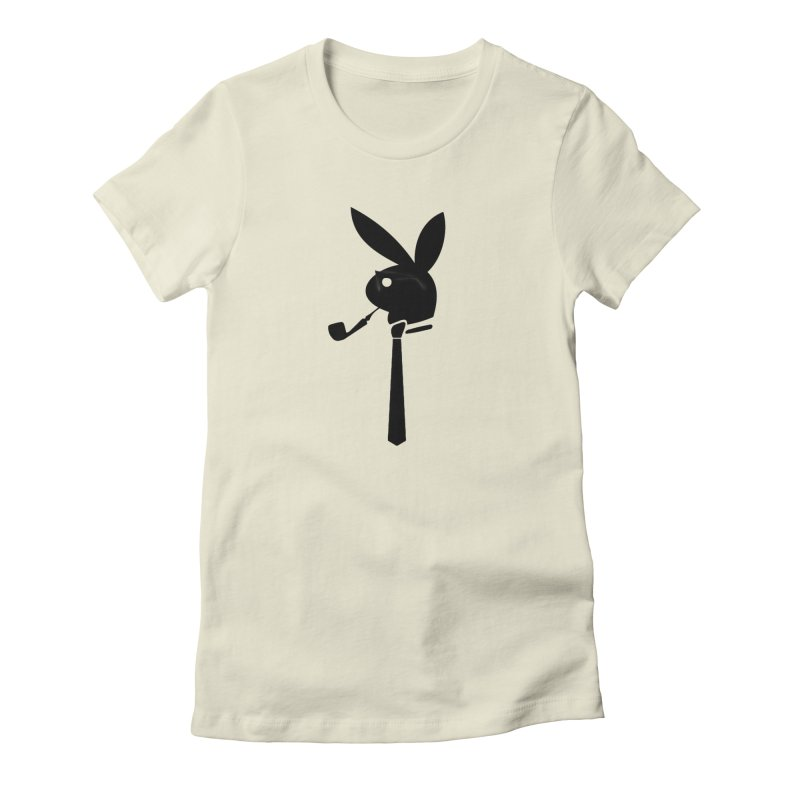Mr. Bunny (Black) Women's Fitted T-Shirt by 7thSin Apparel