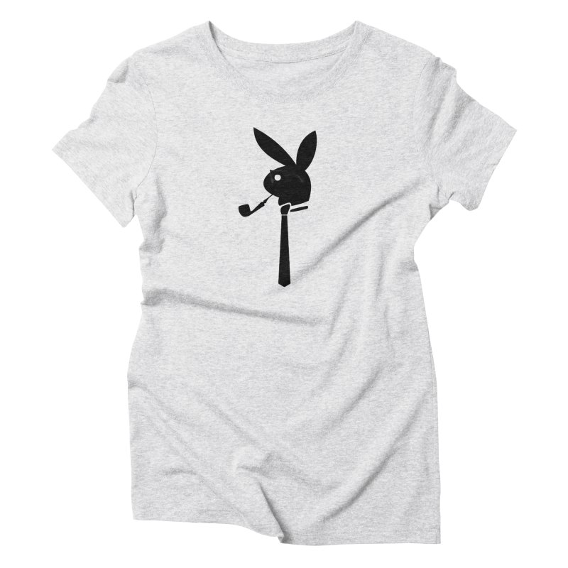 Mr. Bunny (Black) Women's Triblend T-Shirt by 7thSin Apparel