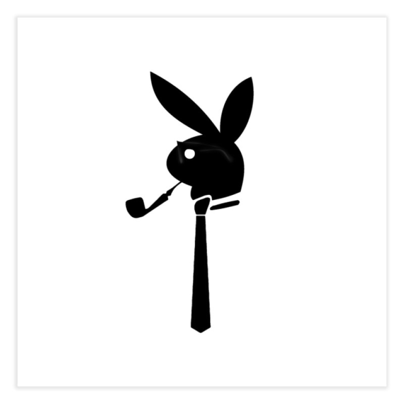 Mr. Bunny (Black) Home Fine Art Print by 7thSin Apparel