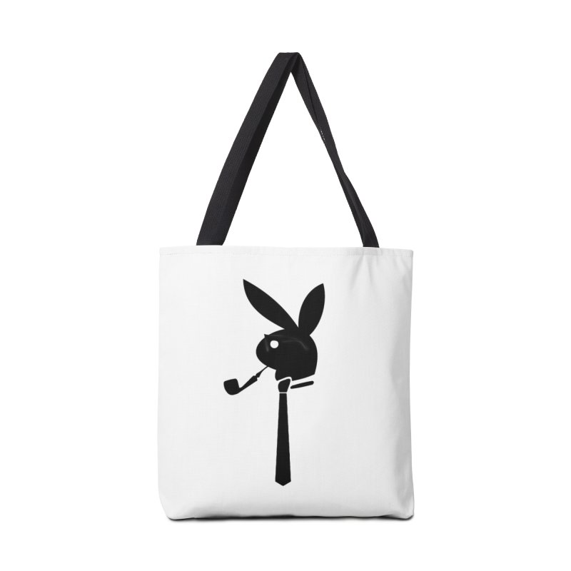 Mr. Bunny (Black) Accessories Tote Bag Bag by 7thSin Apparel