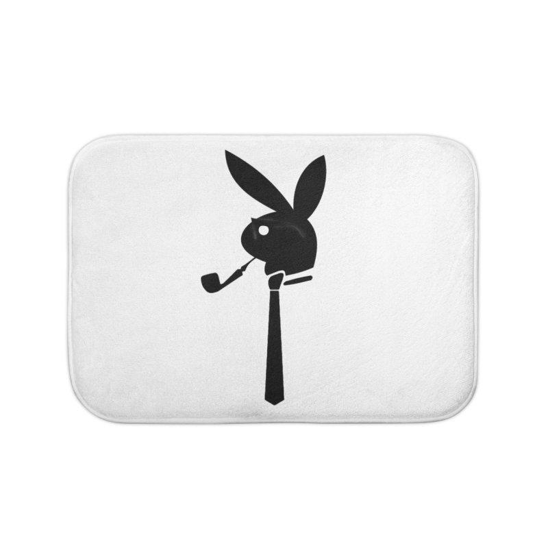 Mr. Bunny (Black) Home Bath Mat by 7thSin Apparel