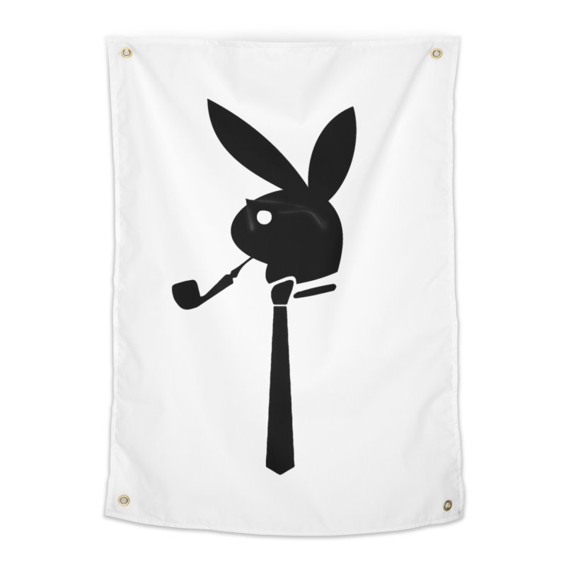 Mr. Bunny (Black) Home Tapestry by 7thSin Apparel