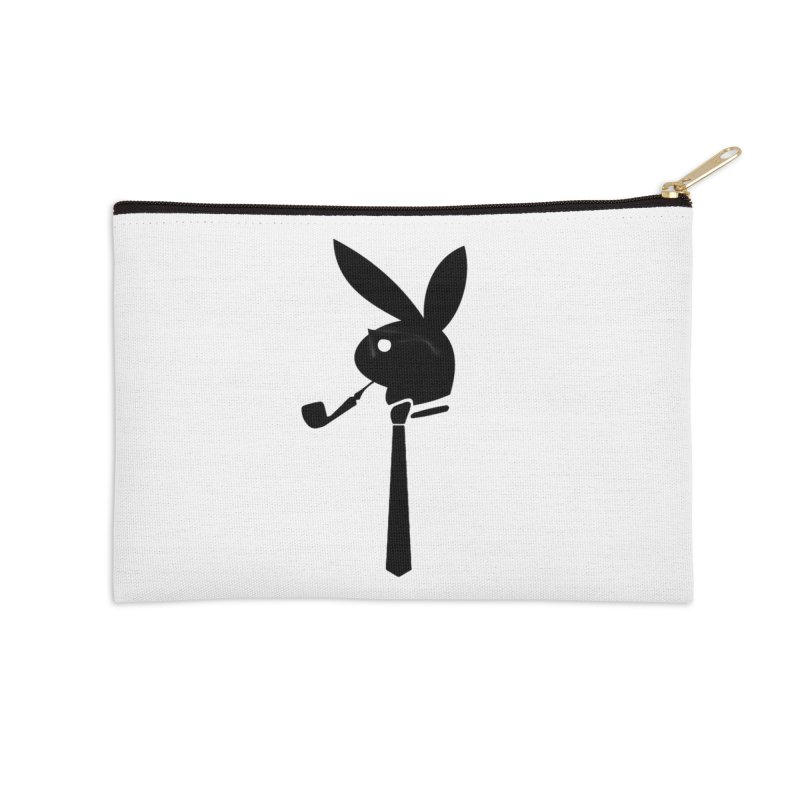 Mr. Bunny (Black) Accessories Zip Pouch by 7thSin Apparel