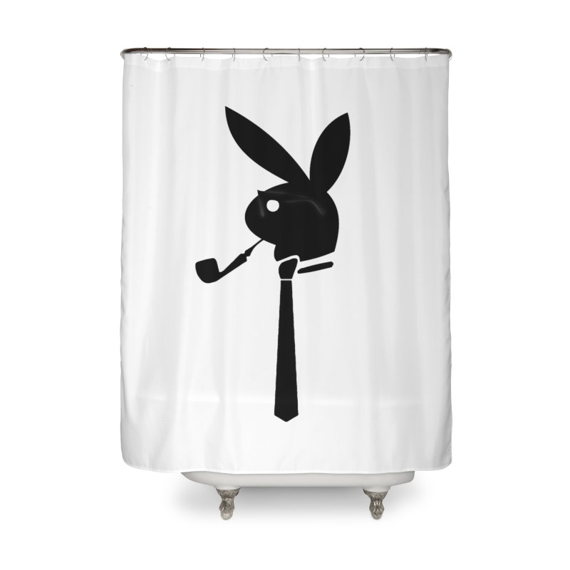 Mr. Bunny (Black) Home Shower Curtain by 7thSin Apparel