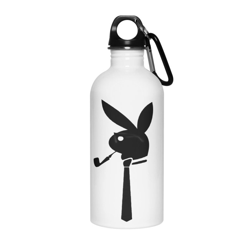 Mr. Bunny (Black) Accessories Water Bottle by 7thSin Apparel