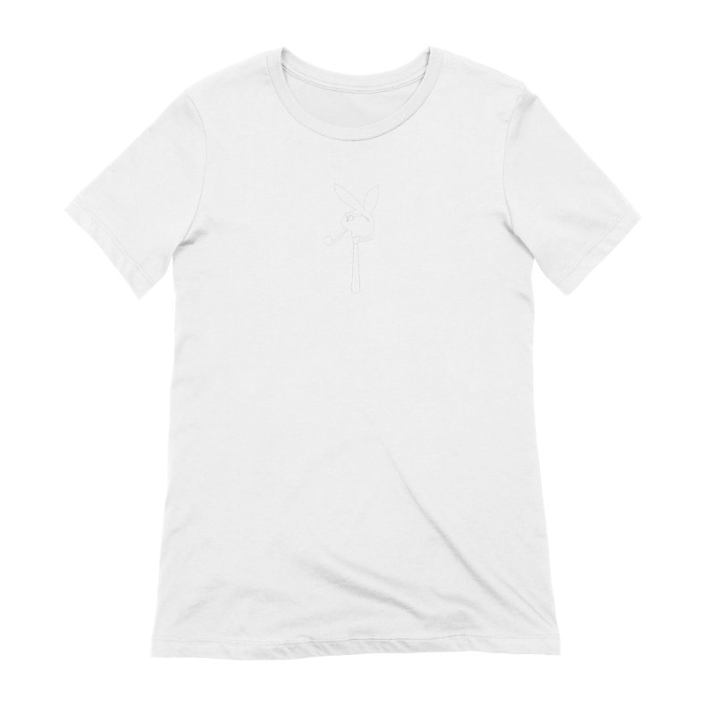 Mr. Bunny (White) Women's Extra Soft T-Shirt by 7thSin Apparel