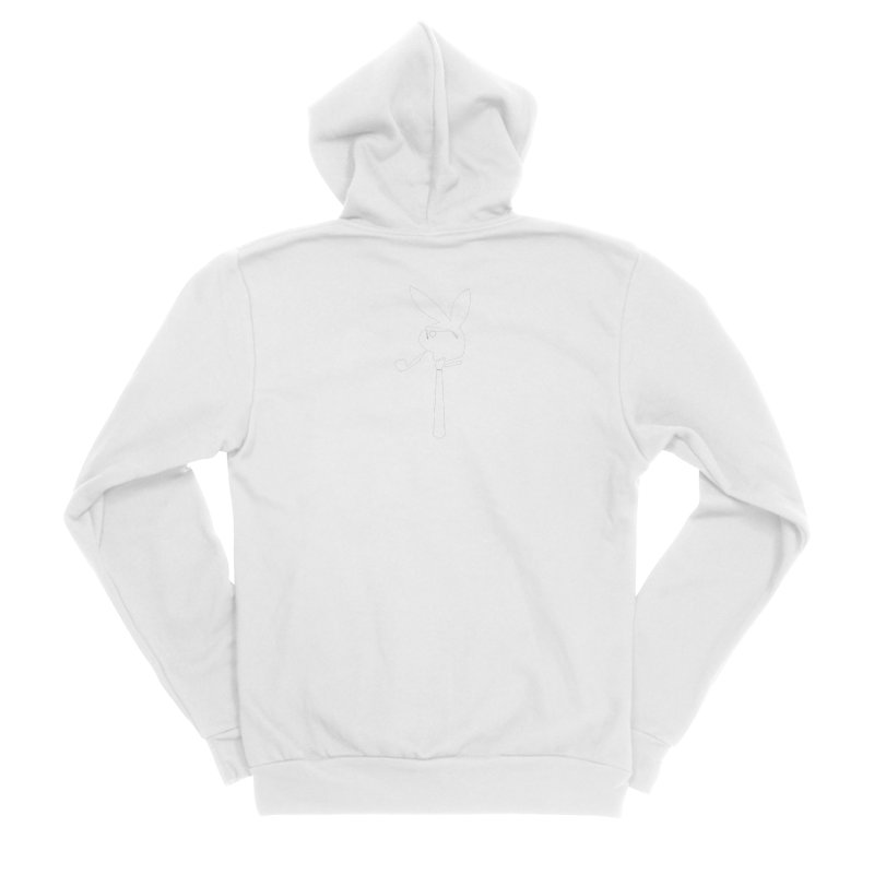 Mr. Bunny (White) Men's Sponge Fleece Zip-Up Hoody by 7thSin Apparel