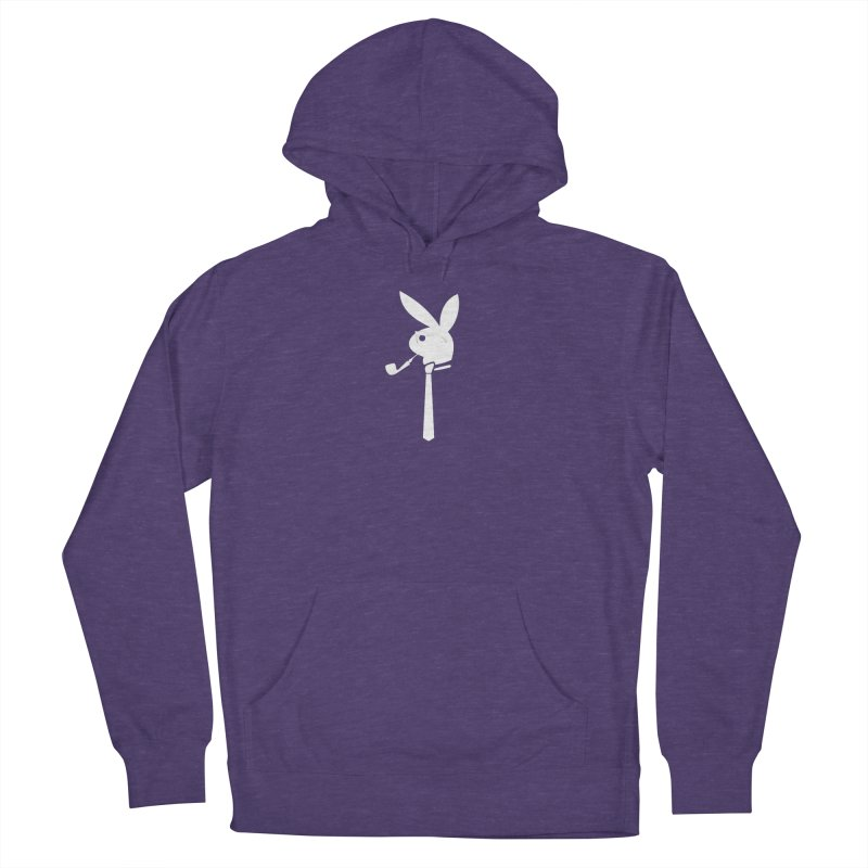 Mr. Bunny (White) Men's French Terry Pullover Hoody by 7thSin Apparel