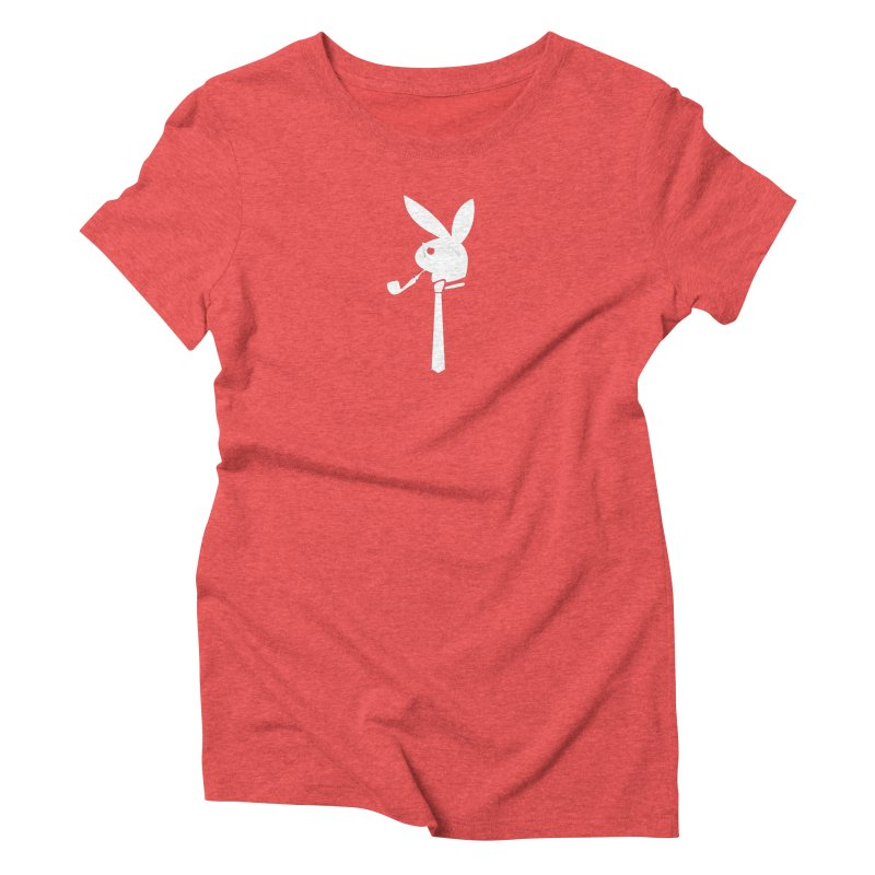 Mr. Bunny (White) Women's Triblend T-Shirt by 7thSin Apparel