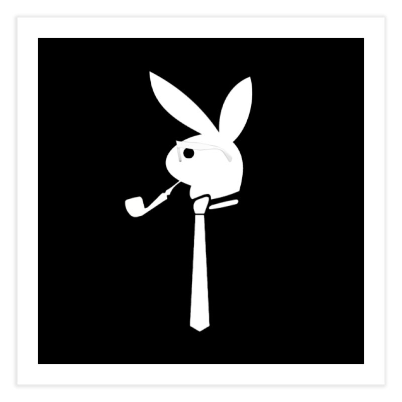 Mr. Bunny (White) Home Fine Art Print by 7thSin Apparel