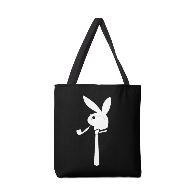Mr. Bunny (White) Accessories Tote Bag Bag by 7thSin Apparel