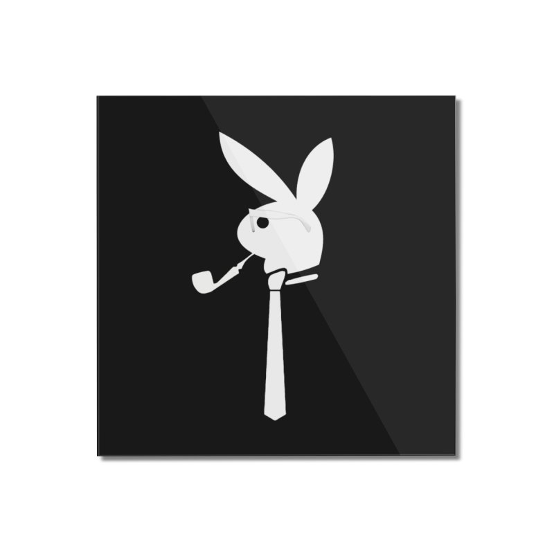 Mr. Bunny (White) Home Mounted Acrylic Print by 7thSin Apparel