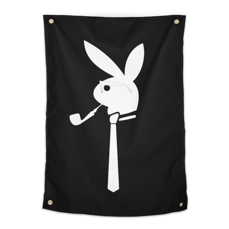 Mr. Bunny (White) Home Tapestry by 7thSin Apparel