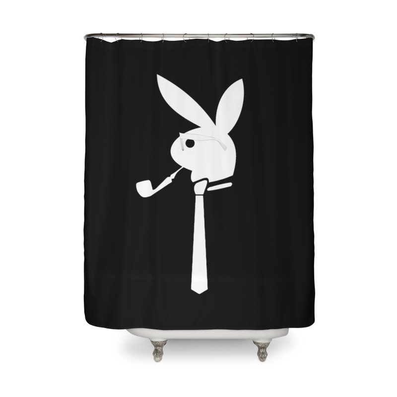 Mr. Bunny (White) Home Shower Curtain by 7thSin Apparel