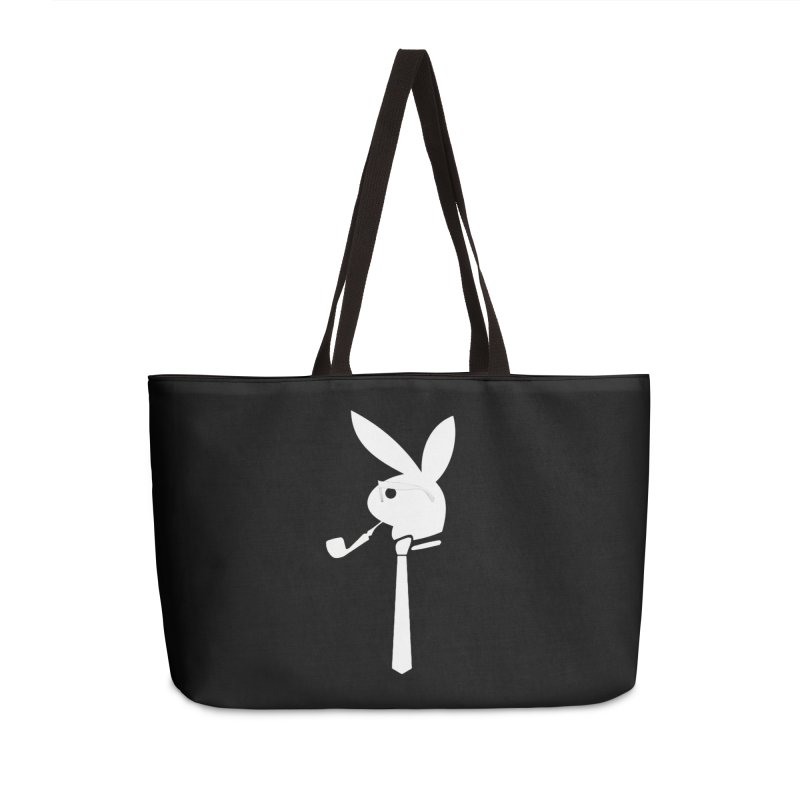 Mr. Bunny (White) Accessories Weekender Bag Bag by 7thSin Apparel