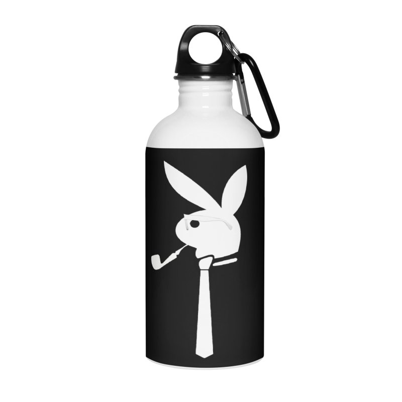 Mr. Bunny (White) Accessories Water Bottle by 7thSin Apparel