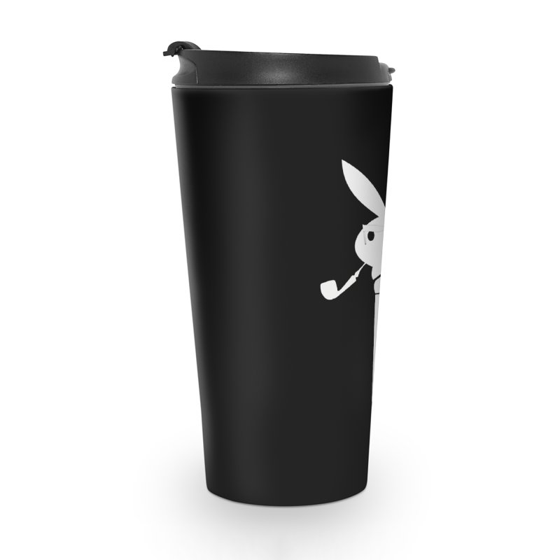 Mr. Bunny (White) Accessories Travel Mug by 7thSin Apparel