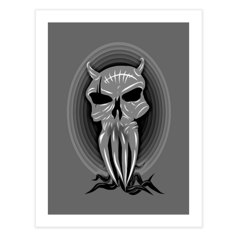 Greyskull Home Fine Art Print by 7thSin Apparel