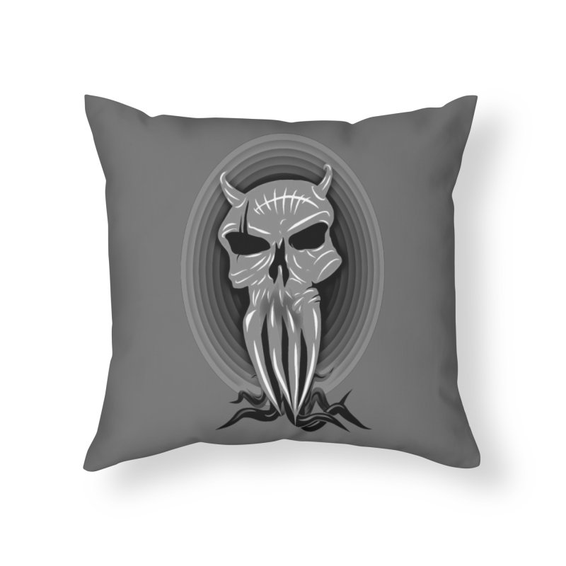 Greyskull Home Throw Pillow by 7thSin Apparel