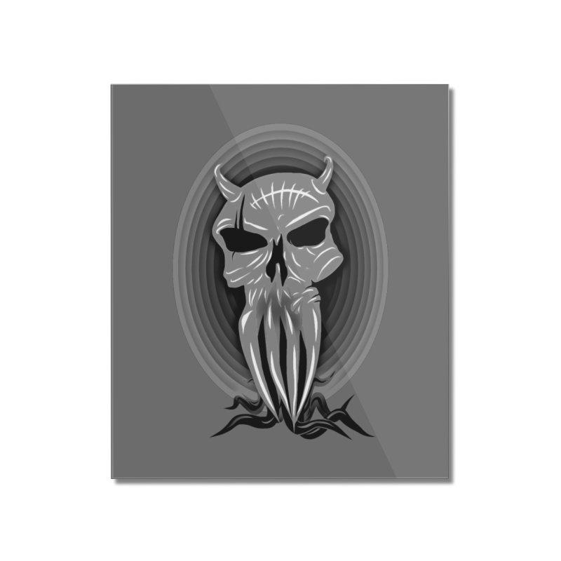 Greyskull Home Mounted Acrylic Print by 7thSin Apparel