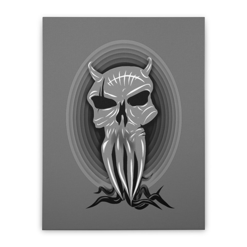 Greyskull Home Stretched Canvas by 7thSin Apparel