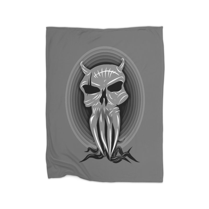 Greyskull Home Fleece Blanket Blanket by 7thSin Apparel