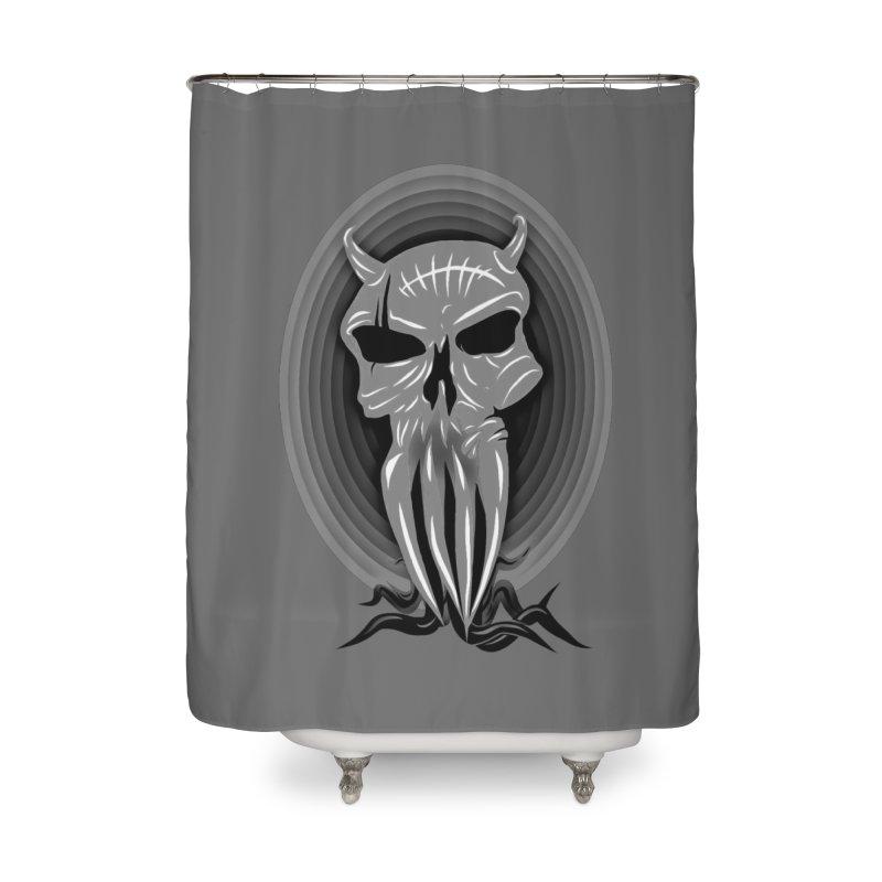 Greyskull Home Shower Curtain by 7thSin Apparel