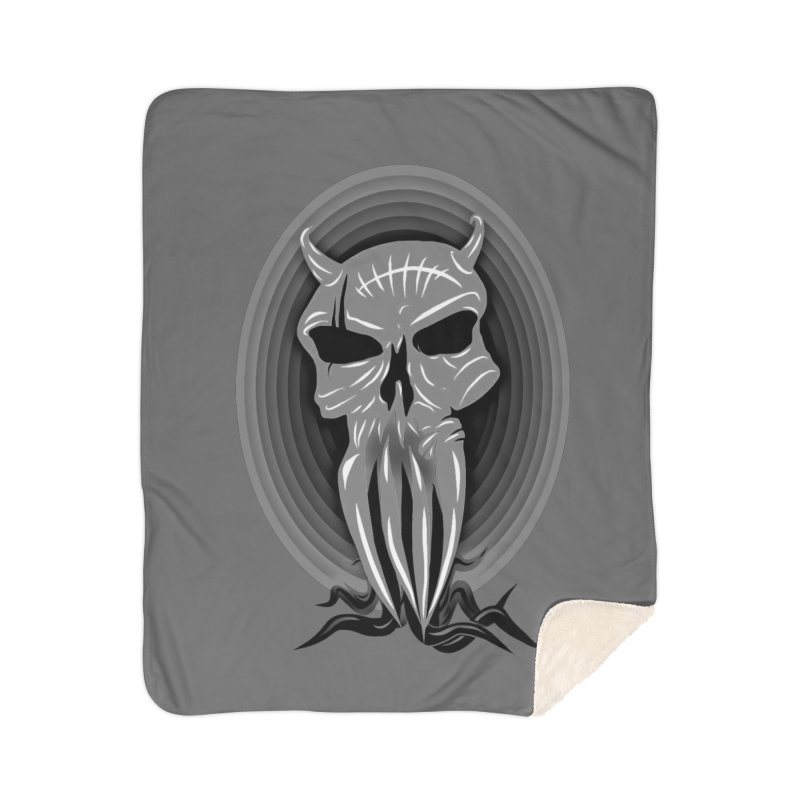 Greyskull Home Sherpa Blanket Blanket by 7thSin Apparel