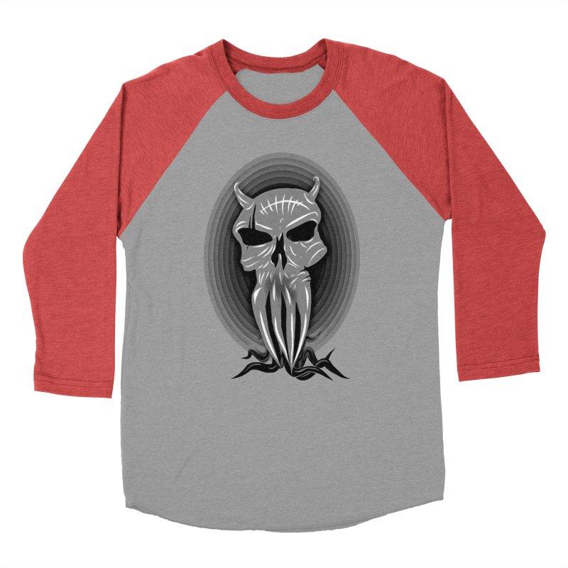 Greyskull Men's Baseball Triblend Longsleeve T-Shirt by 7thSin Apparel