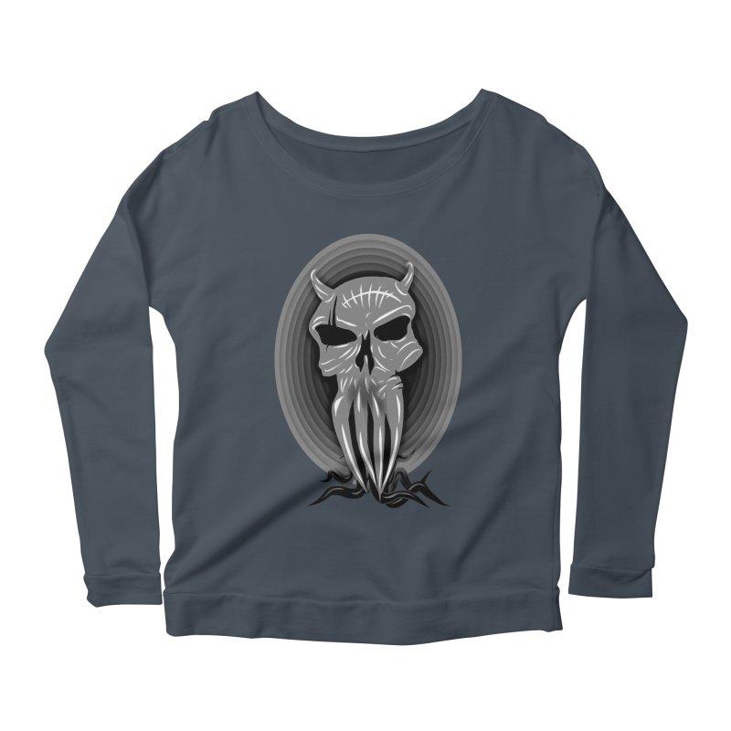 Greyskull Women's Scoop Neck Longsleeve T-Shirt by 7thSin Apparel