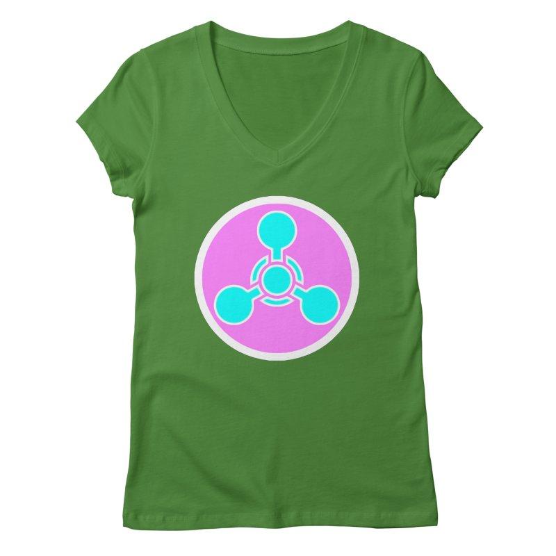 Chemicals Women's Regular V-Neck by 7thSin Apparel