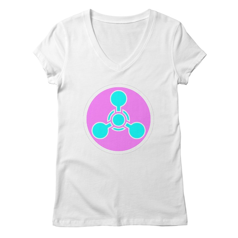 Chemicals Women's Regular V-Neck by 7thSin Apparel