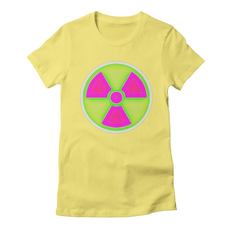 Nu-clear Women's Fitted T-Shirt by 7thSin Apparel